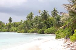 пейзаж на Южных атоллах Мальдив