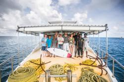 серф банда на Мальдивах