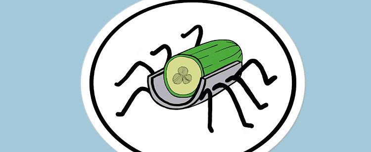 Cucumber Slicer Sticker