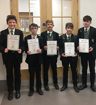Year 10 Man of the Month - October 2018