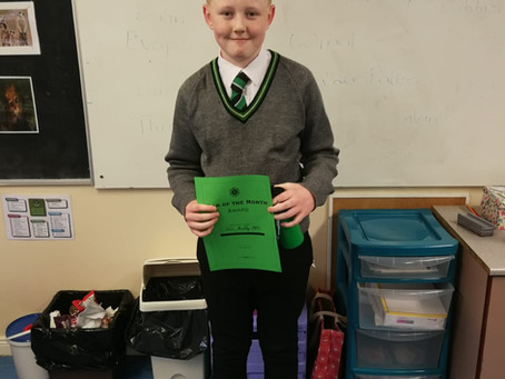 Year 8  Man Of The Month  - October 2020