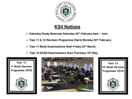KS4 Notices - February 2018