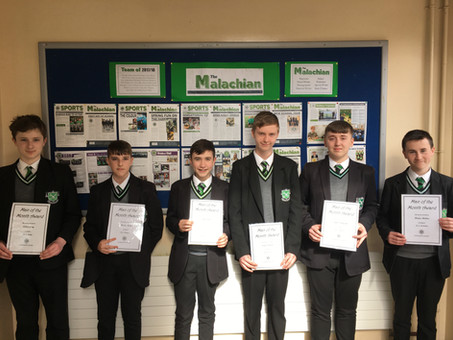 Year 10 Man of the Month - March 19
