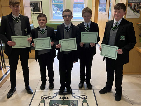Year 10 Man of the Month - November/December 2019