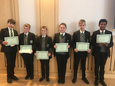 Year 9 Man of the Month - February 2019