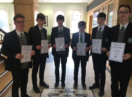 Year 10 Man Of The Month - April 19