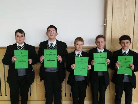 Year 8 Man of the Month - October 18