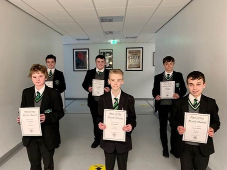 Year 10 Man Of The Month - October 2020