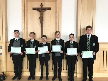 Year 9 Man of the Month - November 2018