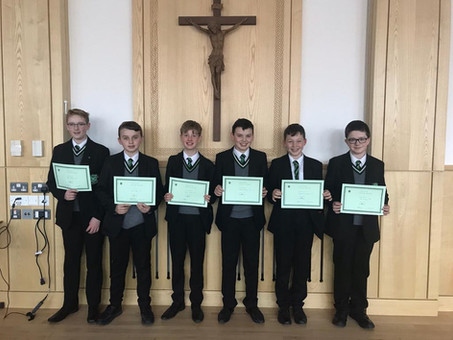 Year 9 Man of the Month - October 2018