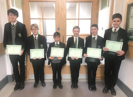 Year 9 Man Of The Month - April 19