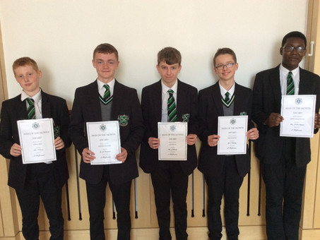 Year 10 Man of the Month - September 2018