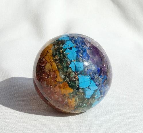 Boule d'Orgonite 7 Chakras