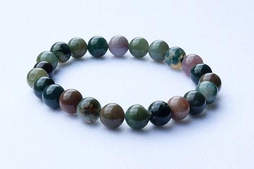 - Bracelet Agate indienne - Équilibre Physique