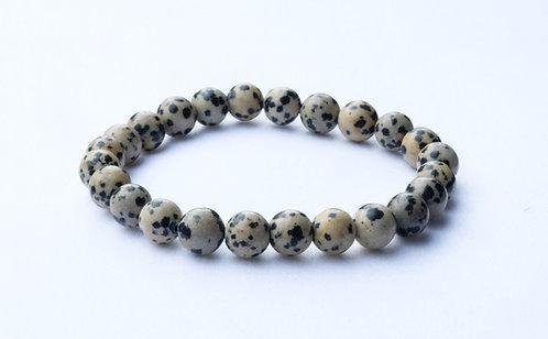 - Bracelet Jaspe Dalmatien - Vertus Positives