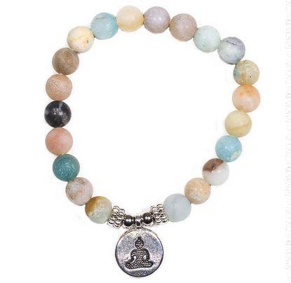 Bracelet Mala Amazonite - Sagesse Intuitive