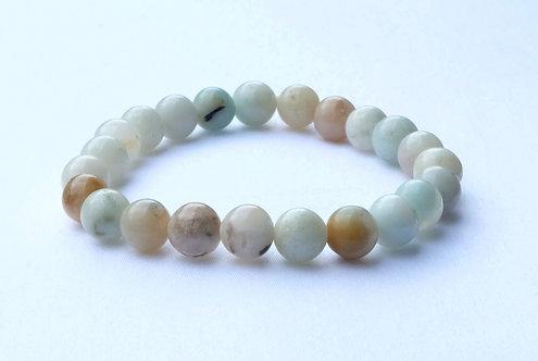 - Bracelet Amazonite - Bonheur et Apaisement