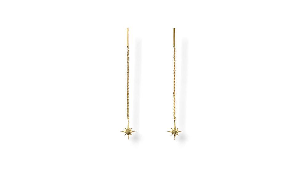 North Star Threader Earrings