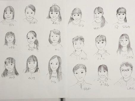 生徒たちのイラスト