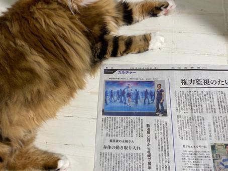 北海道新聞に掲載されました!