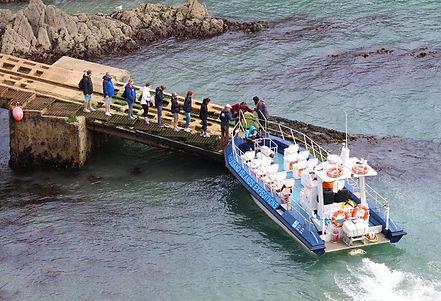 Boarding jet boat trips st davids harbou