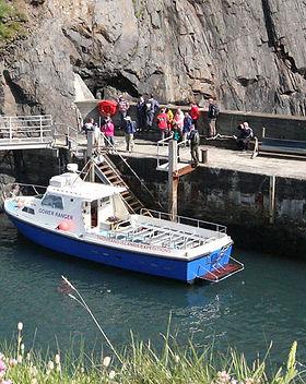 Landing on Ramsey Island Ferry Boat Trip