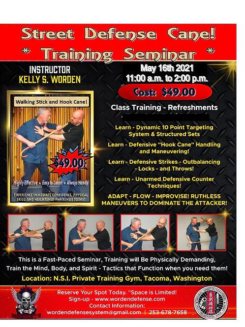 Street defense cane seminar