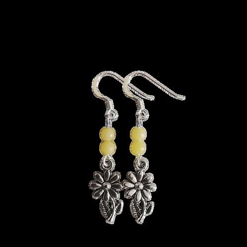 Sunflower Charm Earrings