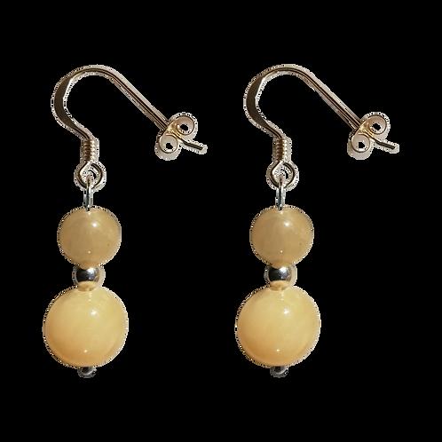 Honey Calcite Mixed Drop Earrings