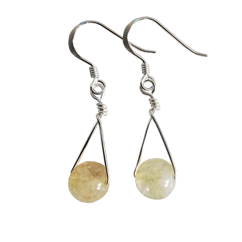 Citrine Single Drop Earrings