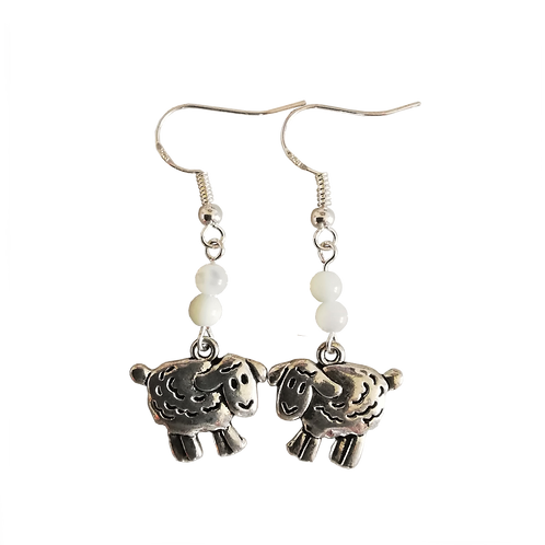 Sheep Charm Earrings