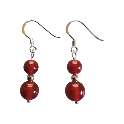 Red Carnelian Mixed Drop Earrings