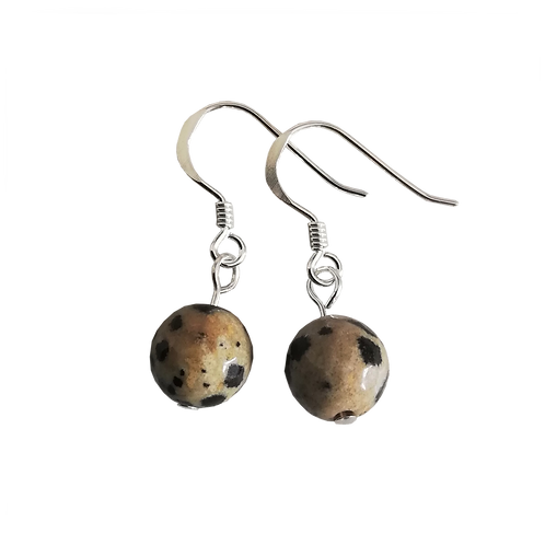 Dalmatian Jasper Short Drop Earrings