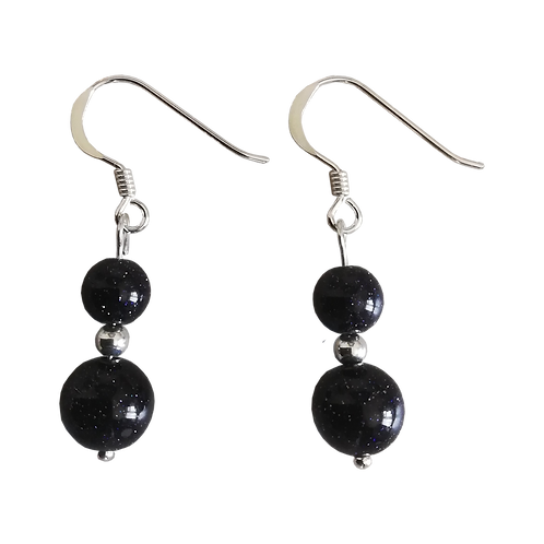 Blue Goldstone Mixed Drop Earrings