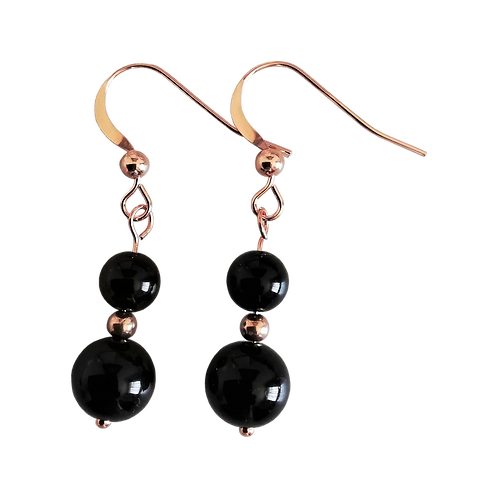 Black Onyx Mixed Drop Earrings