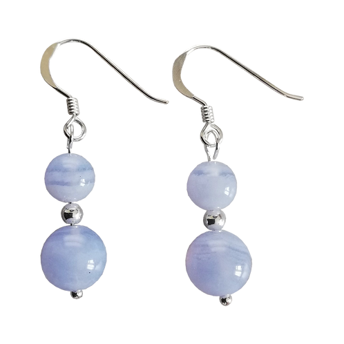 Blue Lace Agate Mixed Drop Earrings