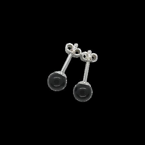 Black Onyx Stud Earrings