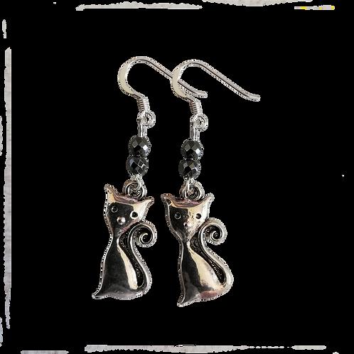 Cat Charm Earrings