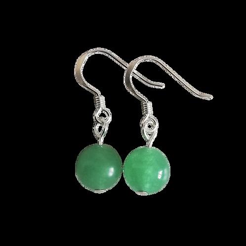 Green Aventurine Short Drop Earrings