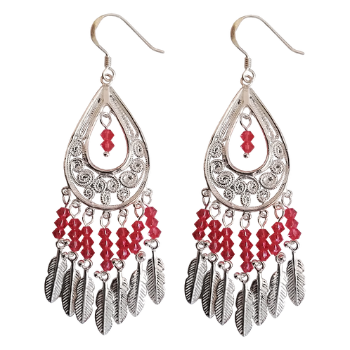 Sterling Silver Dropper Earrings with Swarovski® Crystals