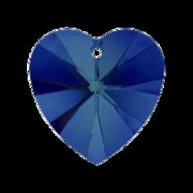 Short Drop Earrings with Bermuda Blue Swarovski® Xilion Hearts