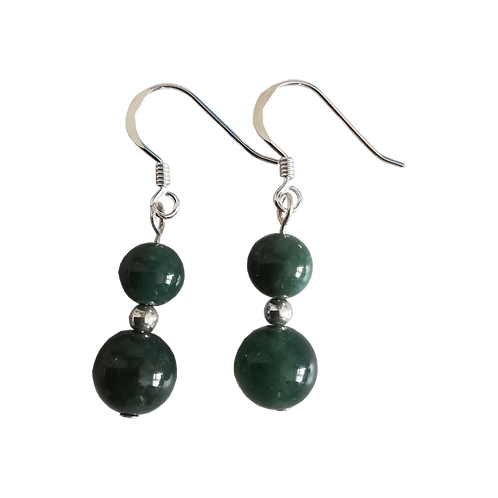 Green Moss Agate Mixed Drop Earrings
