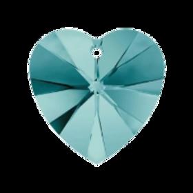 Short Drop Earrings with Blue Zircon Swarovski® Xilion Hearts