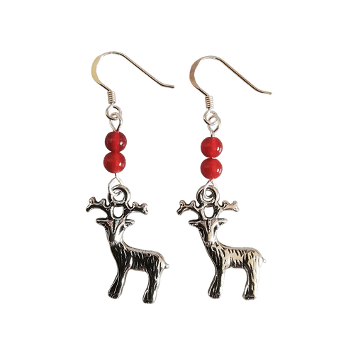 Reindeer Charm Earrings