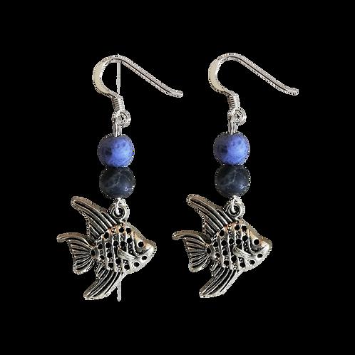 Angel Fish Charm Earrings