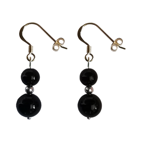 Black Onyx Mixed Drop Earrings