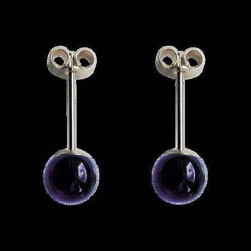 Purple Amethyst Stud Earrings