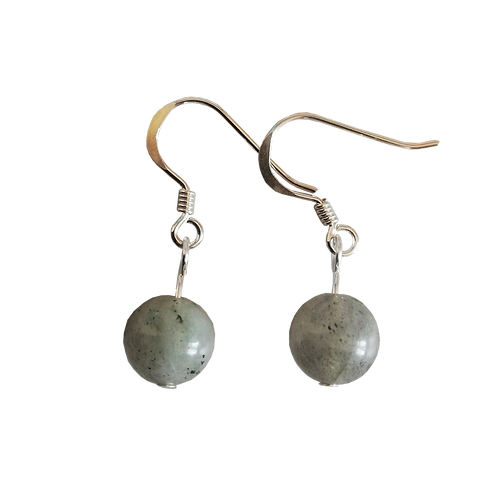 Labradorite Short Drop Earrings