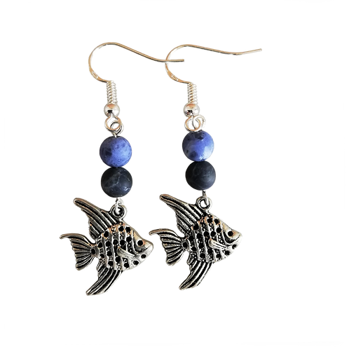 Angel Fish Charm Earrings