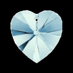 Short Drop Earrings with Aqua Swarovski® Xilion Hearts